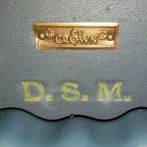 VTG Blue Crown suitcase